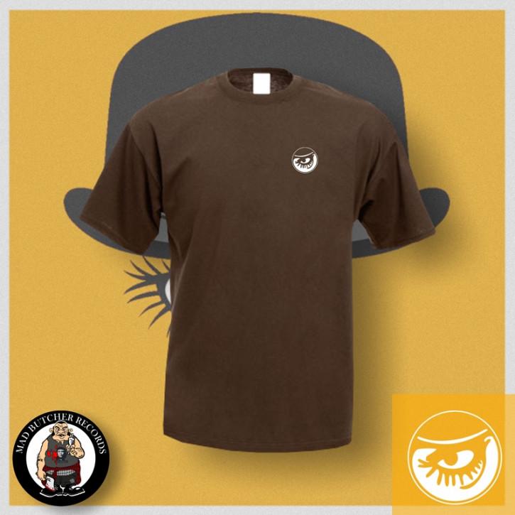 CLOCKWORK EYE T-SHIRT M / brown