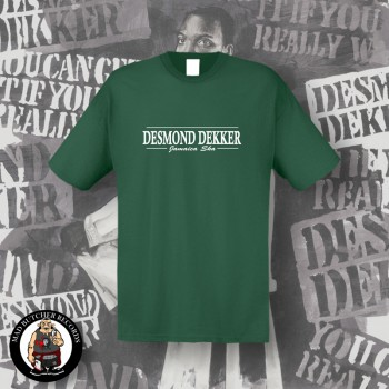 DESMOND DEKKER JAMAICA SKA T-SHIRT 3XL / BOTTLEGREEN