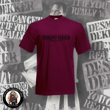 DESMOND DEKKER JAMAICA SKA T-SHIRT XL / BORDEAUX RED