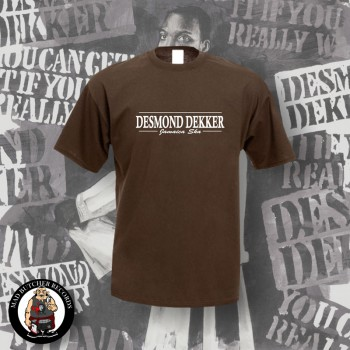 DESMOND DEKKER JAMAICA SKA T-SHIRT 3XL / brown
