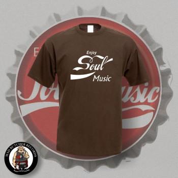 ENJOY SOUL MUSIC T-SHIRT M / BRAUN