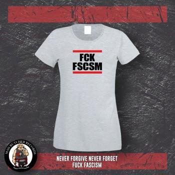 FUCK FASCISM GIRLIE XL / grey