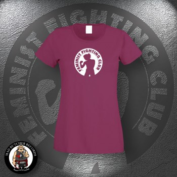 FEMINIST FIGHTING CLUB GIRLIE S / BORDEAUX ROT