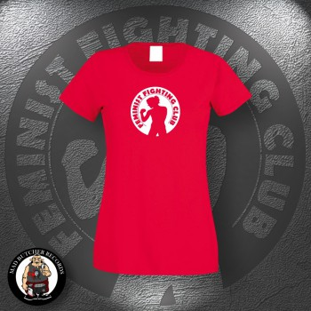 FEMINIST FIGHTING CLUB GIRLIE XL / red
