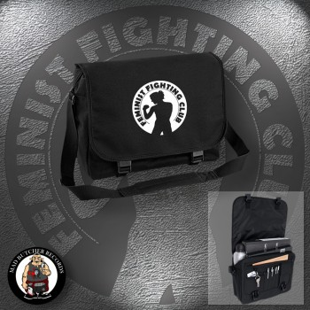 FEMINIST FIGHTING CLUB MESSENGER BAG Black