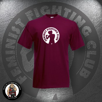 FEMINIST FIGHTING CLUB T-SHIRT L / BORDEAUX RED