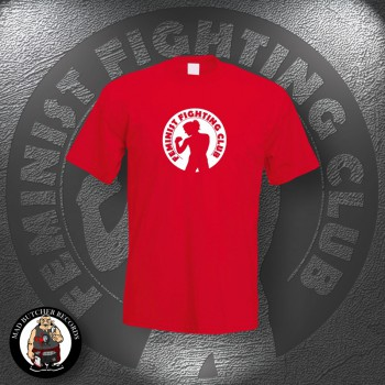 FEMINIST FIGHTING CLUB T-SHIRT S / red