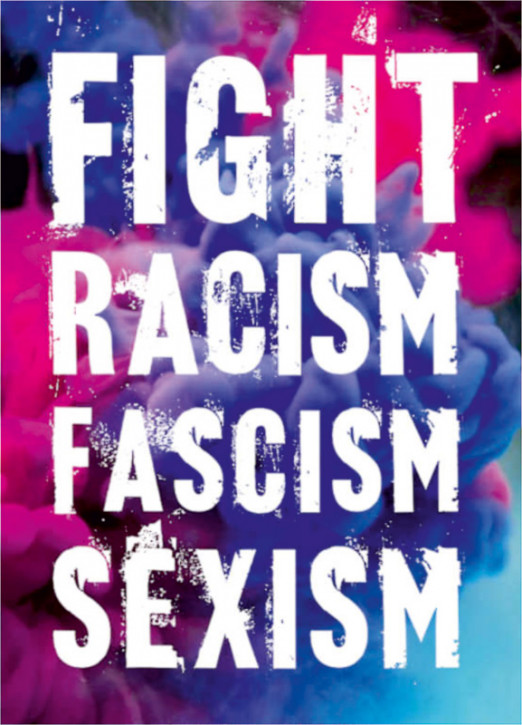 FIGHT RACISM FASCISM SEXISM STICKER (10 Stück)