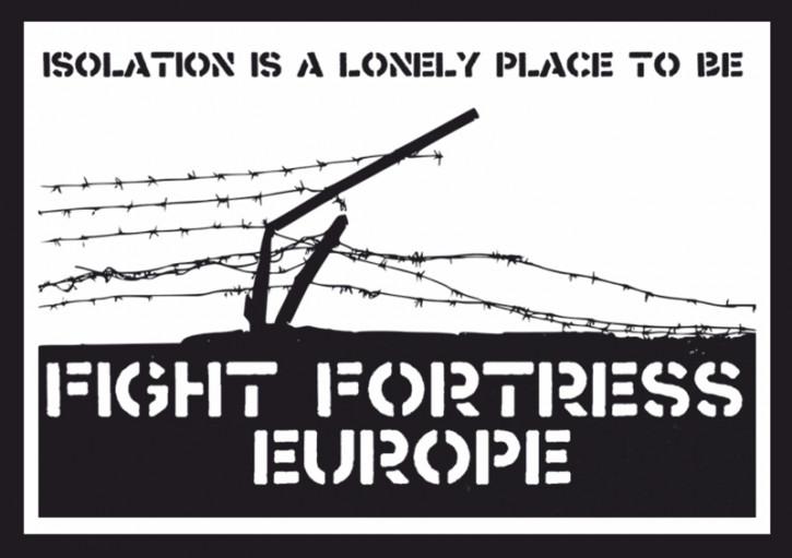FORTRESS EUROPE AUFKLEBER (10 Stück)
