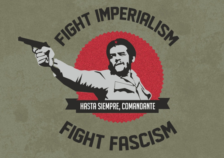 FIGHT IMPERIALISM FIGHT FASCISM AUFKLEBER (10 Stück)