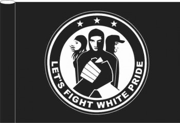 FIGHT WHITE PRIDE FLAG