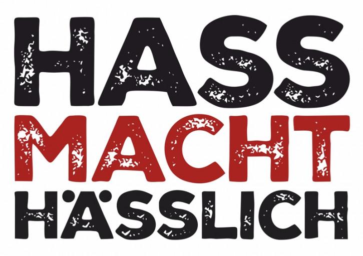 HASS MACHT HÄSSLICH AUFKLEBER (10 Stück)