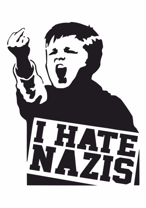I HATE NAZIS STICKER (10 units)