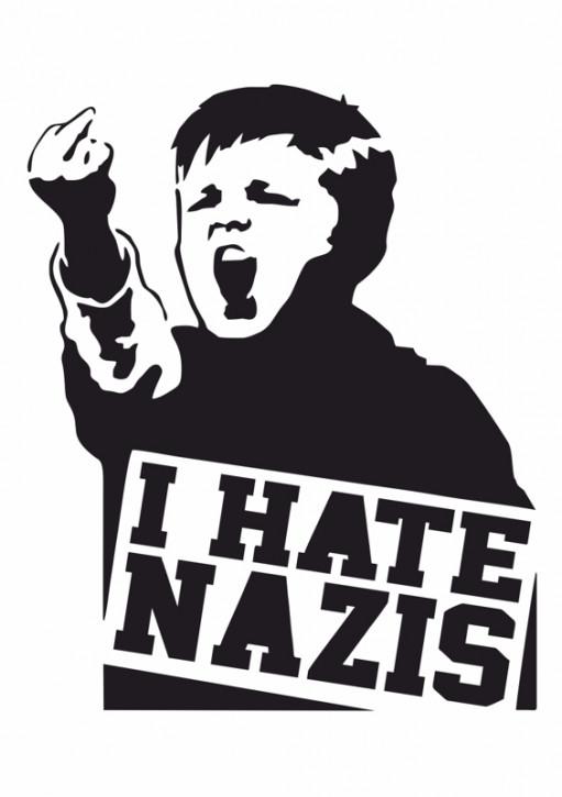 I HATE NAZIS AUFKLEBER (10 Stück)