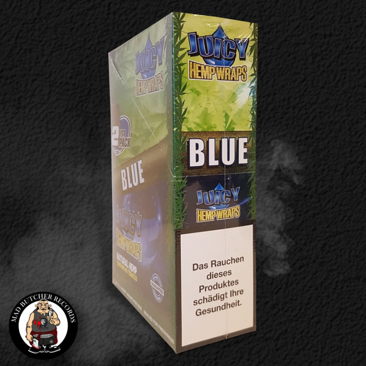 Juicy Hemp Wraps - Blue BOX 24 packs