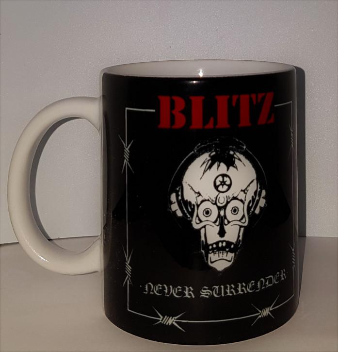 BLITZ NEVER SURRENDER KAFFEEBECHER