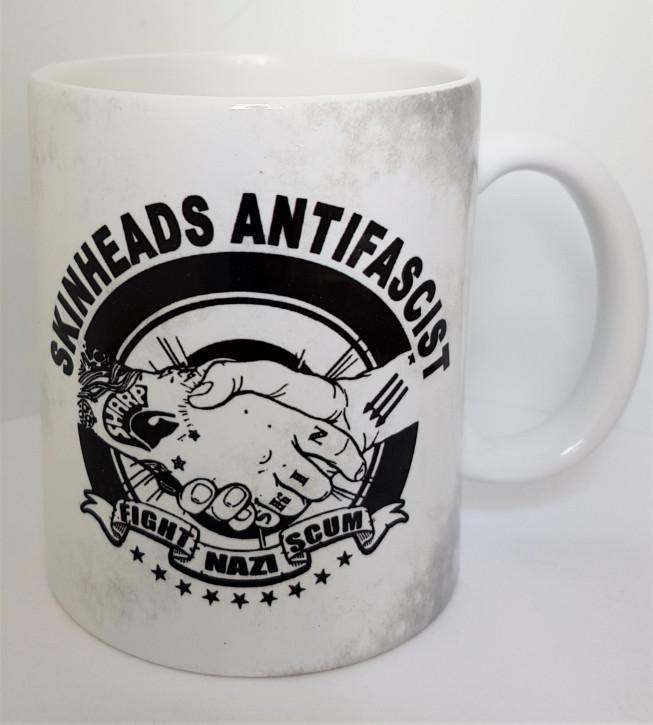 SKINHEADS ANTIFASCIST FIGHT NAZI SCUM KAFFEEBECHER
