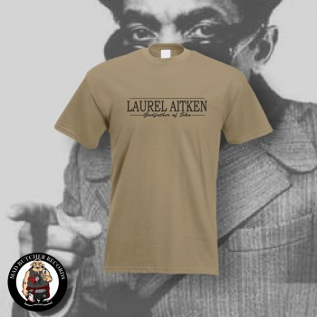 LAUREL AITKEN GODFATHER OF SKA T-SHIRT S / BEIGE