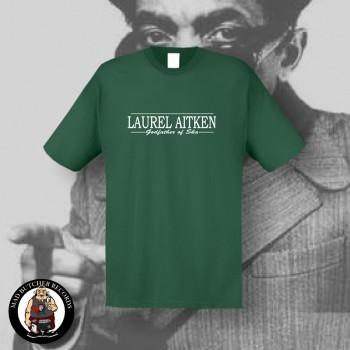LAUREL AITKEN GODFATHER OF SKA T-SHIRT L / BOTTLEGREEN
