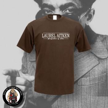 LAUREL AITKEN GODFATHER OF SKA T-SHIRT L / BRAUN