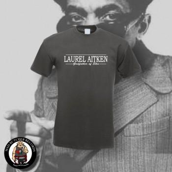 LAUREL AITKEN GODFATHER OF SKA T-SHIRT S / DUNKELGRAU