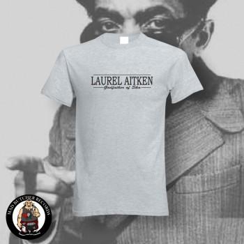 LAUREL AITKEN GODFATHER OF SKA T-SHIRT L / GRAU