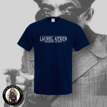 LAUREL AITKEN GODFATHER OF SKA T-SHIRT L / NAVY