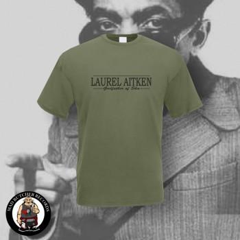 LAUREL AITKEN GODFATHER OF SKA T-SHIRT L / OLIVE
