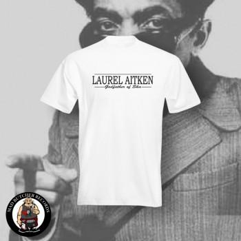 LAUREL AITKEN GODFATHER OF SKA T-SHIRT S / WEISS
