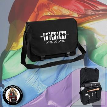 LOVE IS LOVE MESSENGER BAG Black