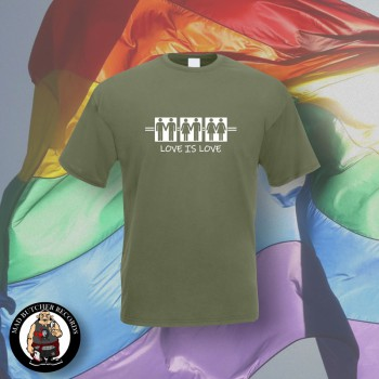 LOVE IS LOVE T-SHIRT S / OLIVE