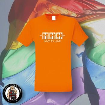 LOVE IS LOVE T-SHIRT XL / ORANGE