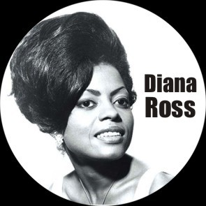 DIANA ROSS BUTTON