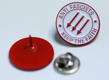 ANTIFASCISTS KEEP THE FAITH PIN