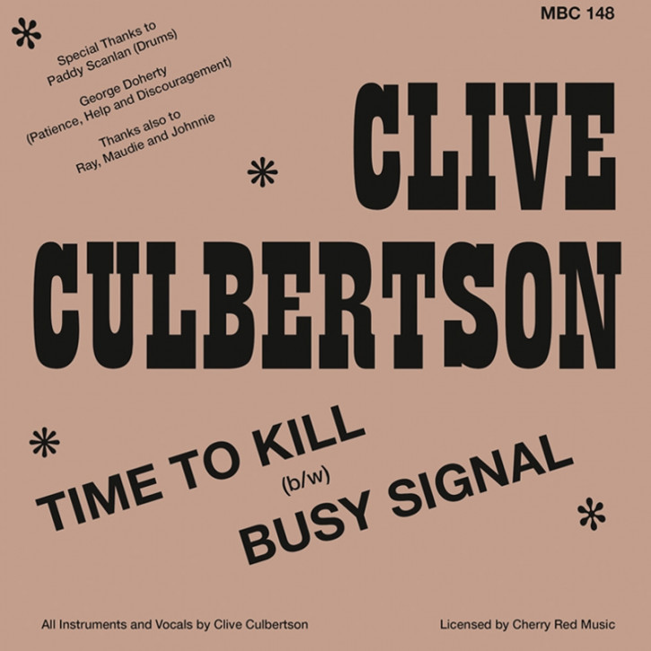 CLIVE CULBERTSON TIME TO KILL/BUSY SIGNAL 7