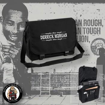 DERRICK MORGAN ROUGHER THAN ROUGH MESSENGER BAG Black