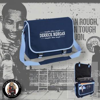 DERRICK MORGAN ROUGHER THAN ROUGH MESSENGER BAG blue
