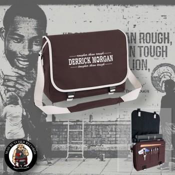 DERRICK MORGAN ROUGHER THAN ROUGH MESSENGER BAG brown