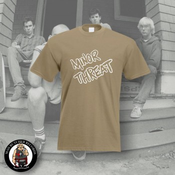 MINOR THREAT LOGO T-SHIRT S / BEIGE