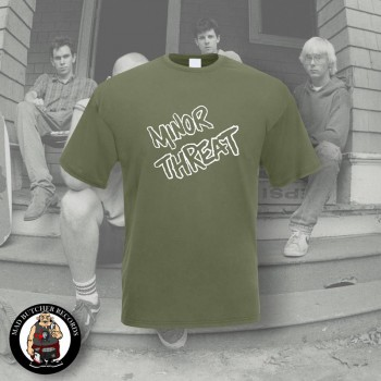 MINOR THREAT LOGO T-SHIRT L / OLIVE