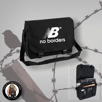 NO BORDERS MESSENGER BAG Black / WHITE