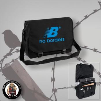 NO BORDERS MESSENGER BAG Black / BLUE
