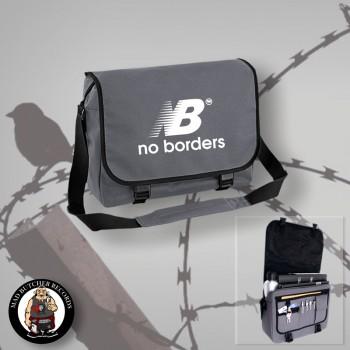NO BORDERS MESSENGER BAG grey / WHITE
