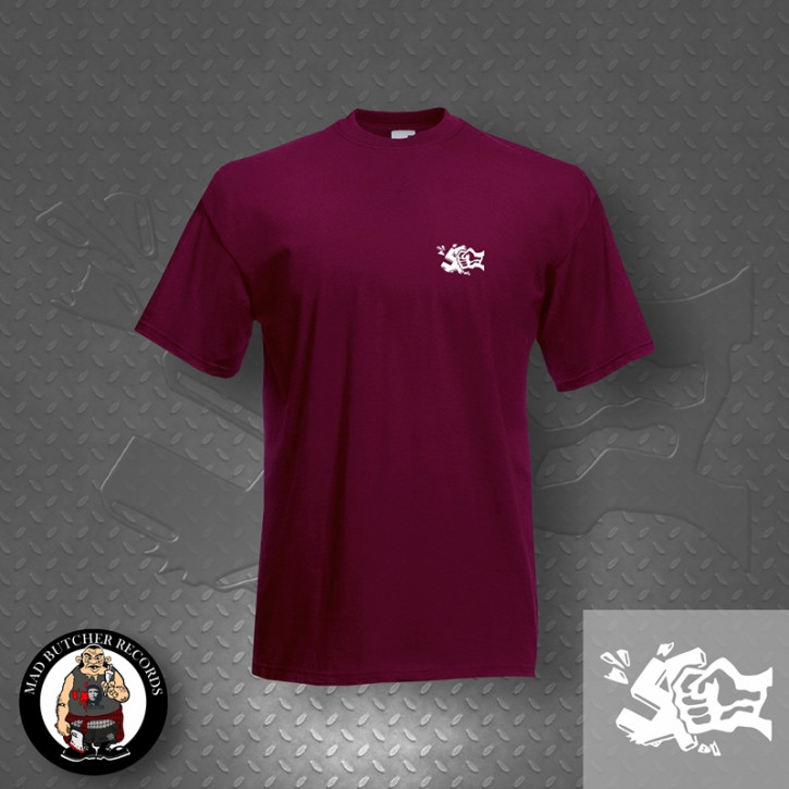 GEGEN NAZIS FIST SMALL T-SHIRT XXL / BORDEAUX ROT