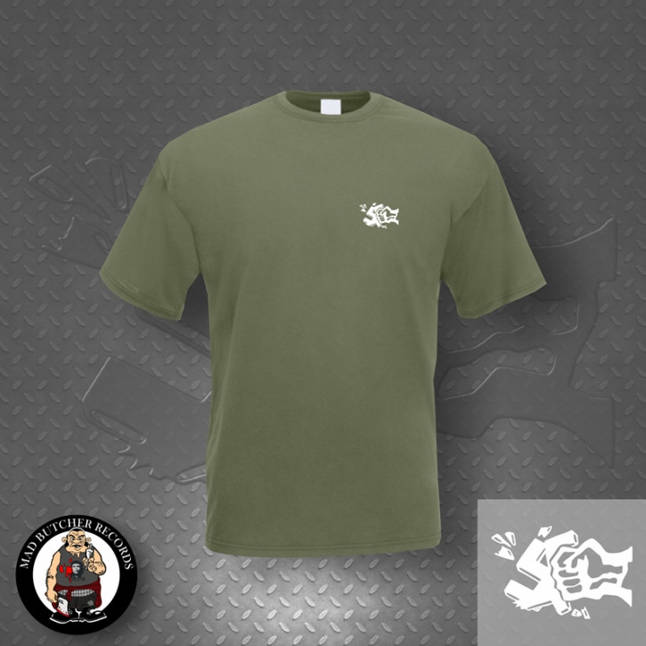 GEGEN NAZIS FIST SMALL T-SHIRT L / OLIVE