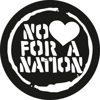 NO LOVE FOR A NATION AUFKLEBER