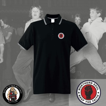 NORTHERN SOUL LOGO SMALL POLO SCHWARZ / S