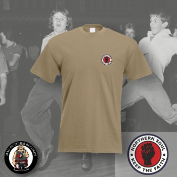 NORTHERN SOUL LOGO SMALL T-SHIRT XL / BEIGE