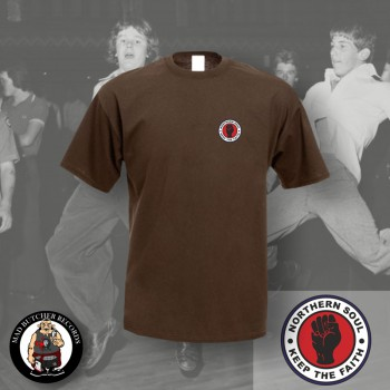 NORTHERN SOUL LOGO SMALL T-SHIRT L / brown