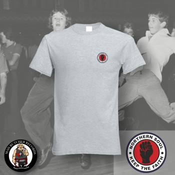 NORTHERN SOUL LOGO SMALL T-SHIRT S / grey